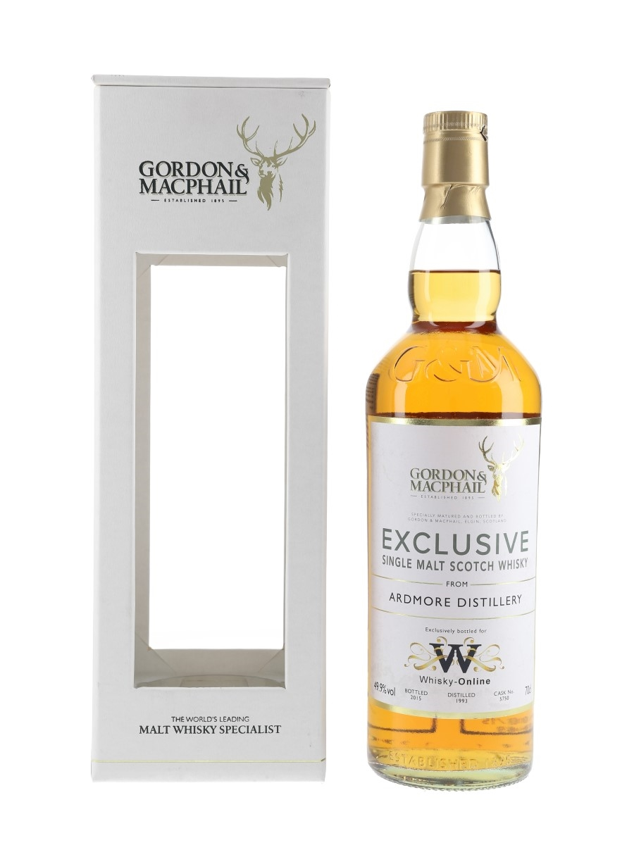Ardmore 1993 Exclusive Gordon & MacPhail Bottled 2015 - Whisky-Online 70cl / 49.9%