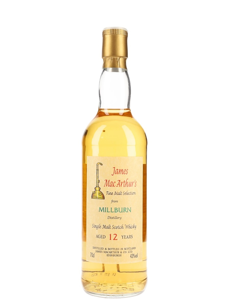 Millburn 12 Year Old Bottled 1990s - James MacArthur 70cl / 43%