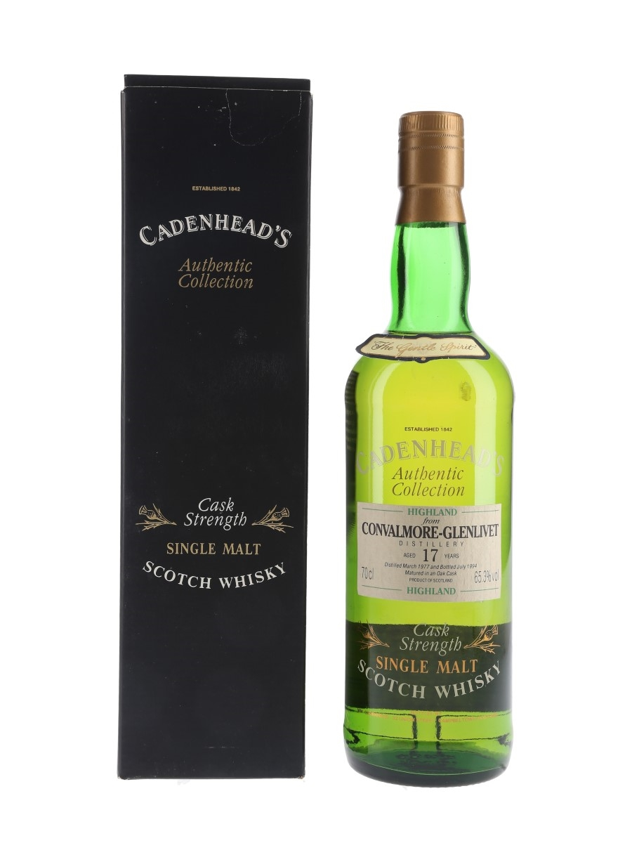 Convalmore Glenlivet 1977 17 Year Old Bottled 1994 - Cadenhead's 70cl / 65.3%