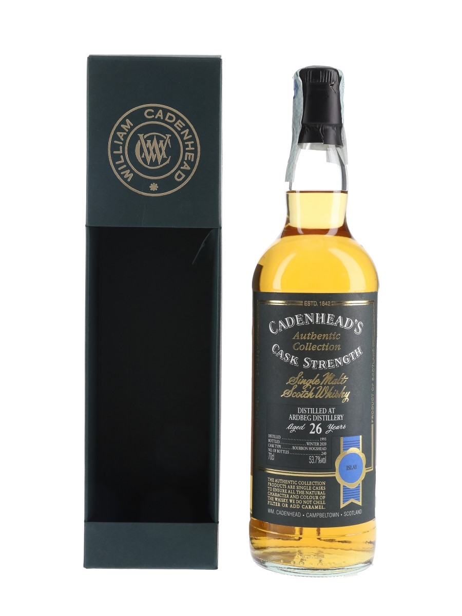 Ardbeg 1993 26 Year Old Bottled 2020 - Cadenhead's 70cl / 53.7%