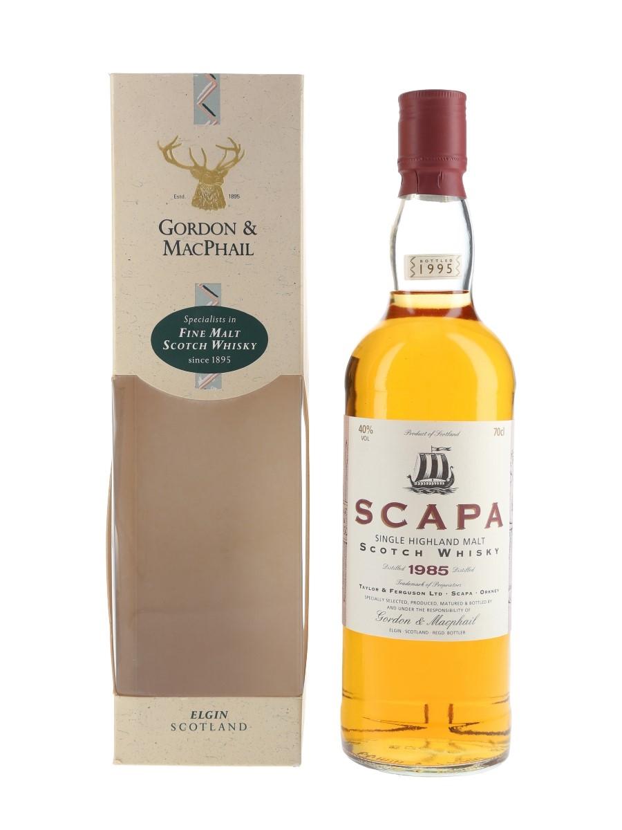 Scapa 1985 Bottled 1995 - Gordon & MacPhail 70cl / 40%
