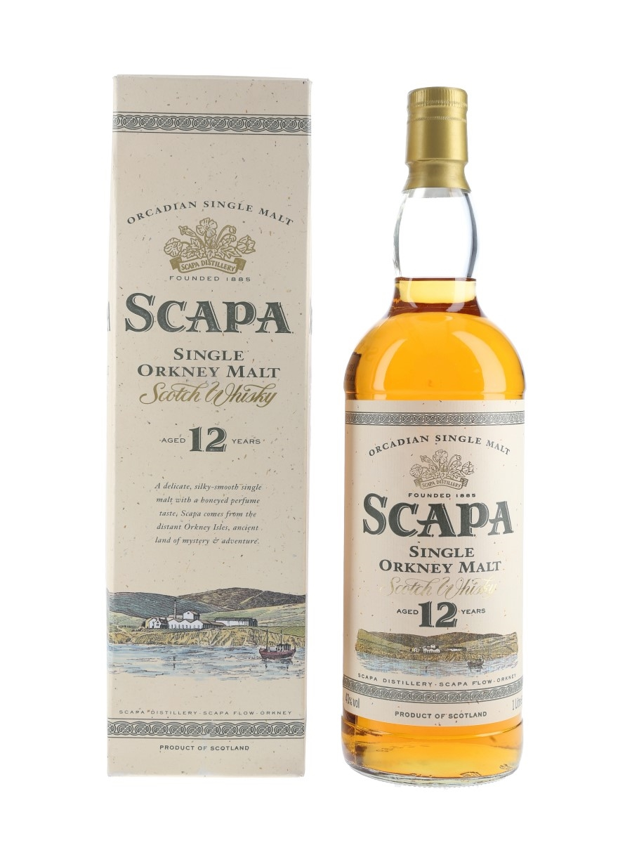 Scapa 12 Year Old Bottled 1990s 100cl / 40%