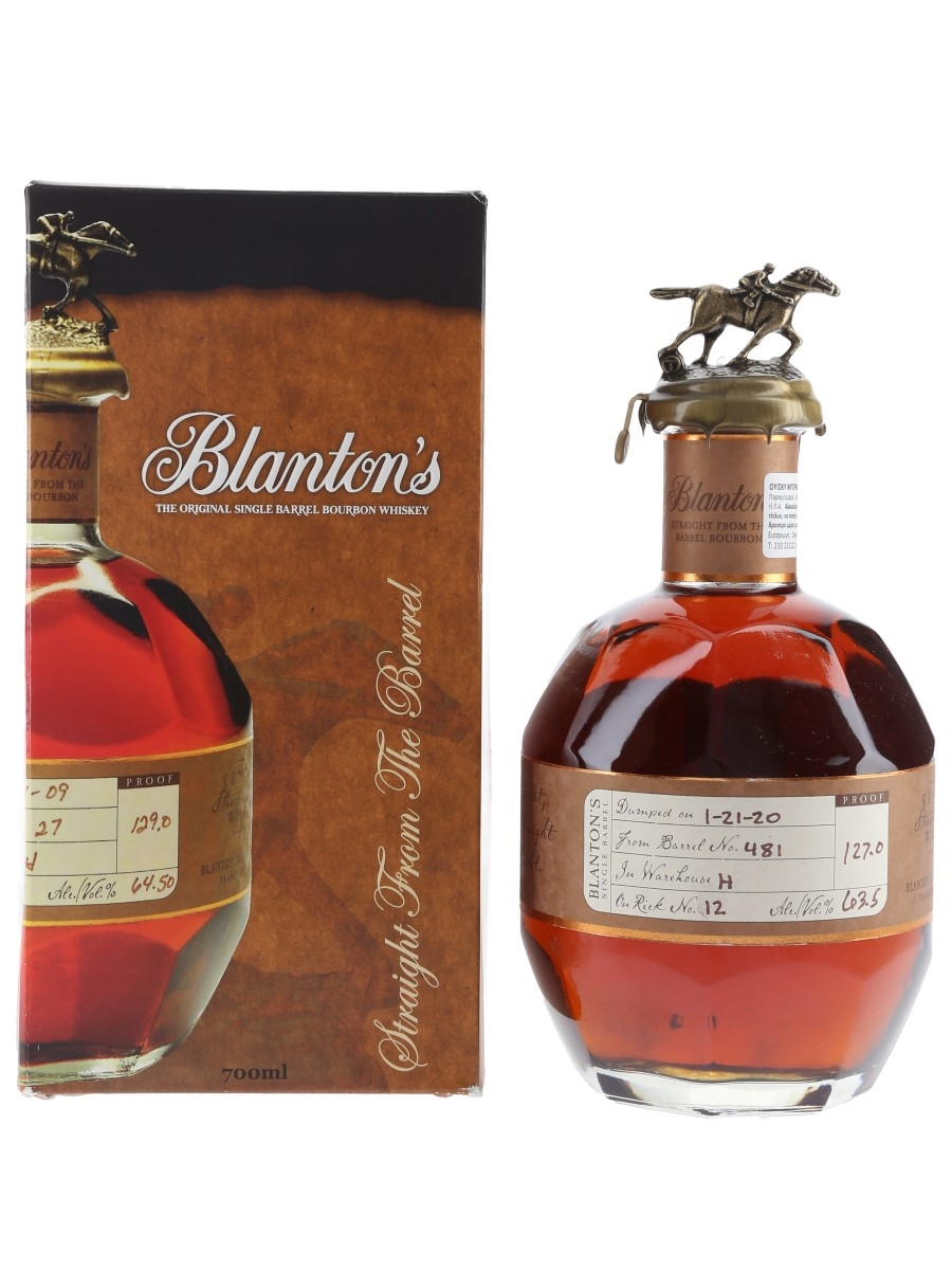 Blanton's Straight From The Barrel No. 481 Bottled 2020 70cl / 63.5%