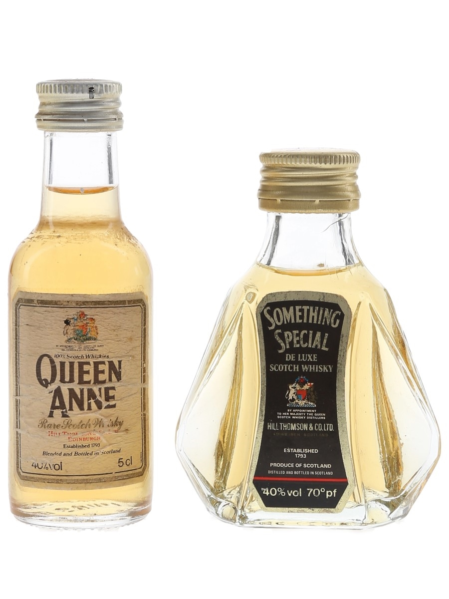 Queen Anne & Something Special Bottled 1970s & 1980s 2 x 5cl / 40%
