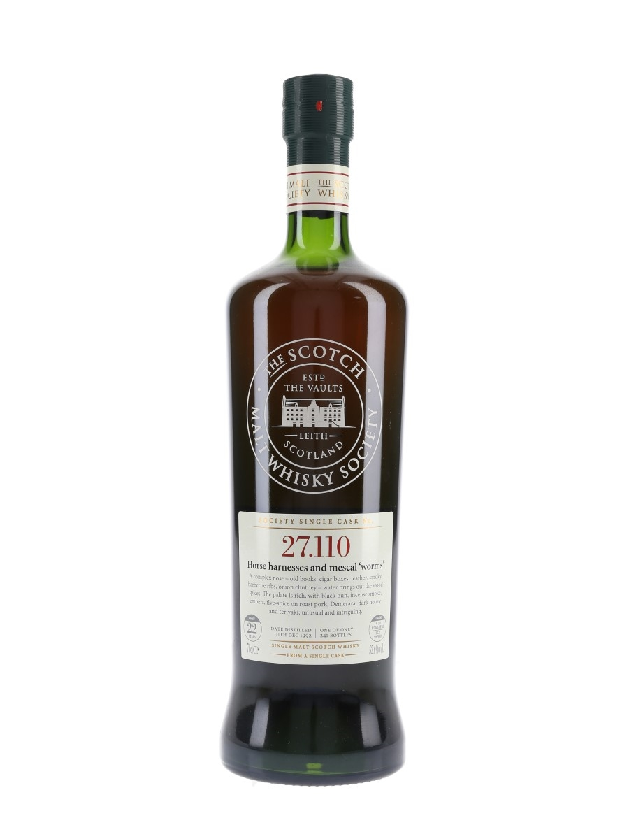SMWS 27.110 Horse Harnesses And Mescal Worms Springbank 1992 22 Year Old 70cl / 52.6%