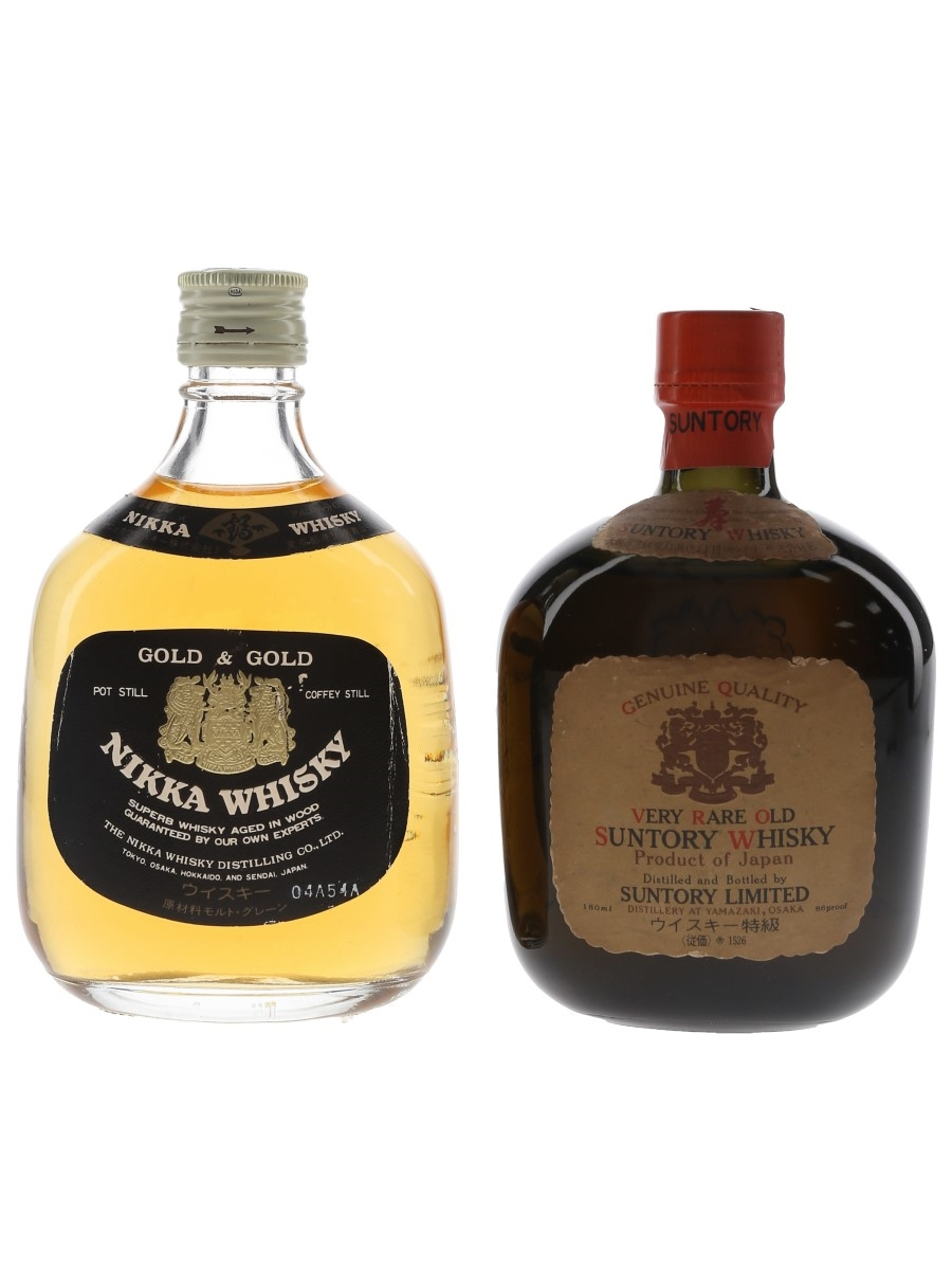 Nikka Gold & Gold and Suntory Genuine Quality Old Whisky  2 x 18cl / 43%