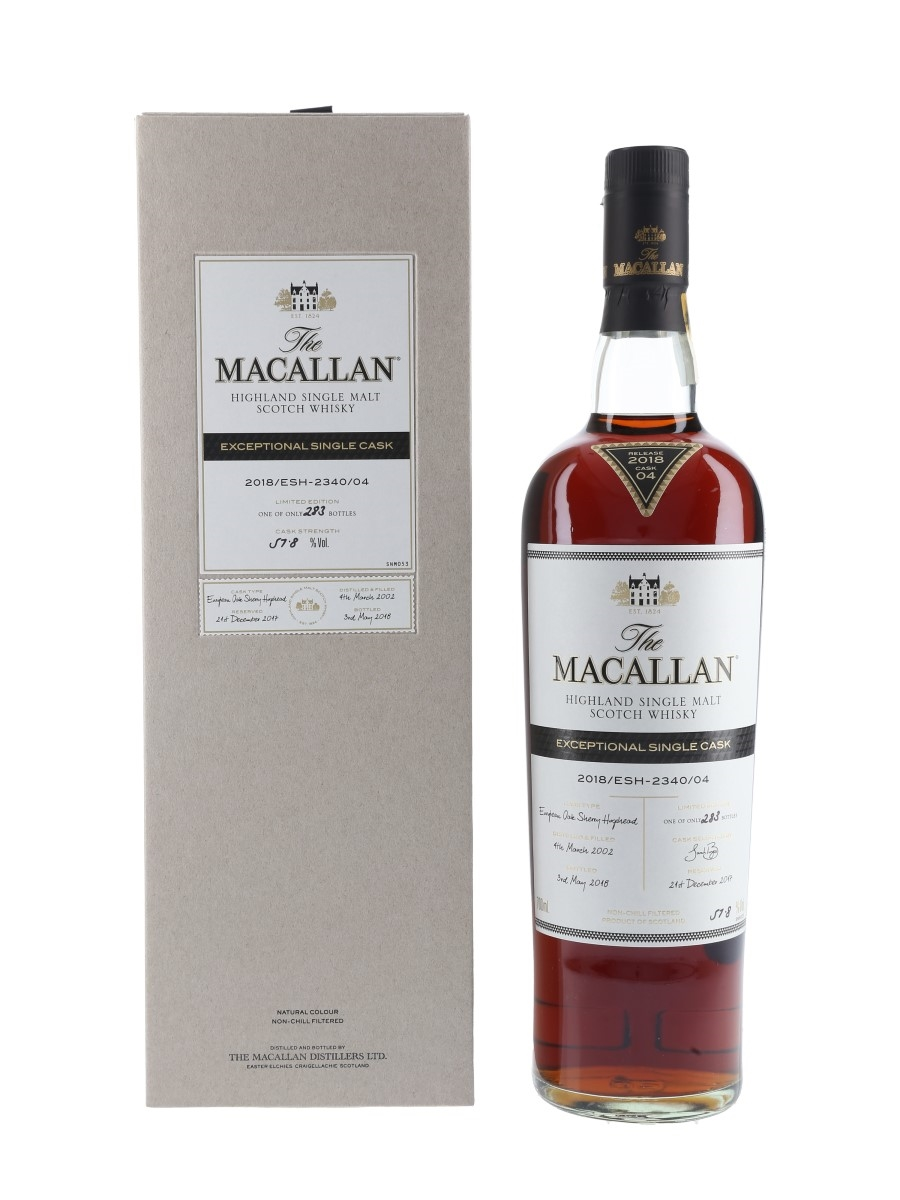 Macallan 2002 Exceptional Single Cask 04 2018 Release 70cl / 57.8%