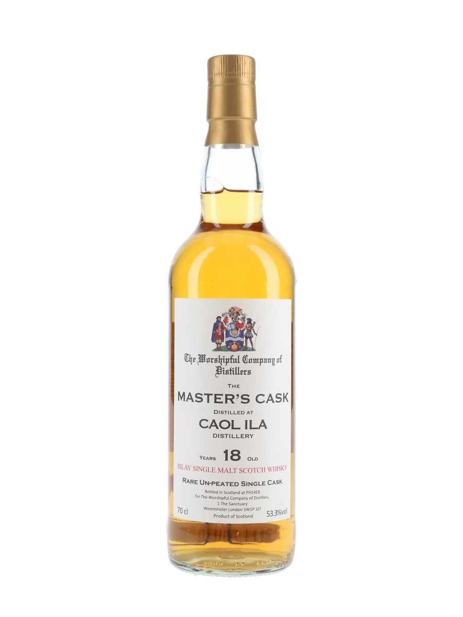 Caol Ila 18 Year Old Master's Cask The Worshipful Company Of Distillers 70cl / 53.3%