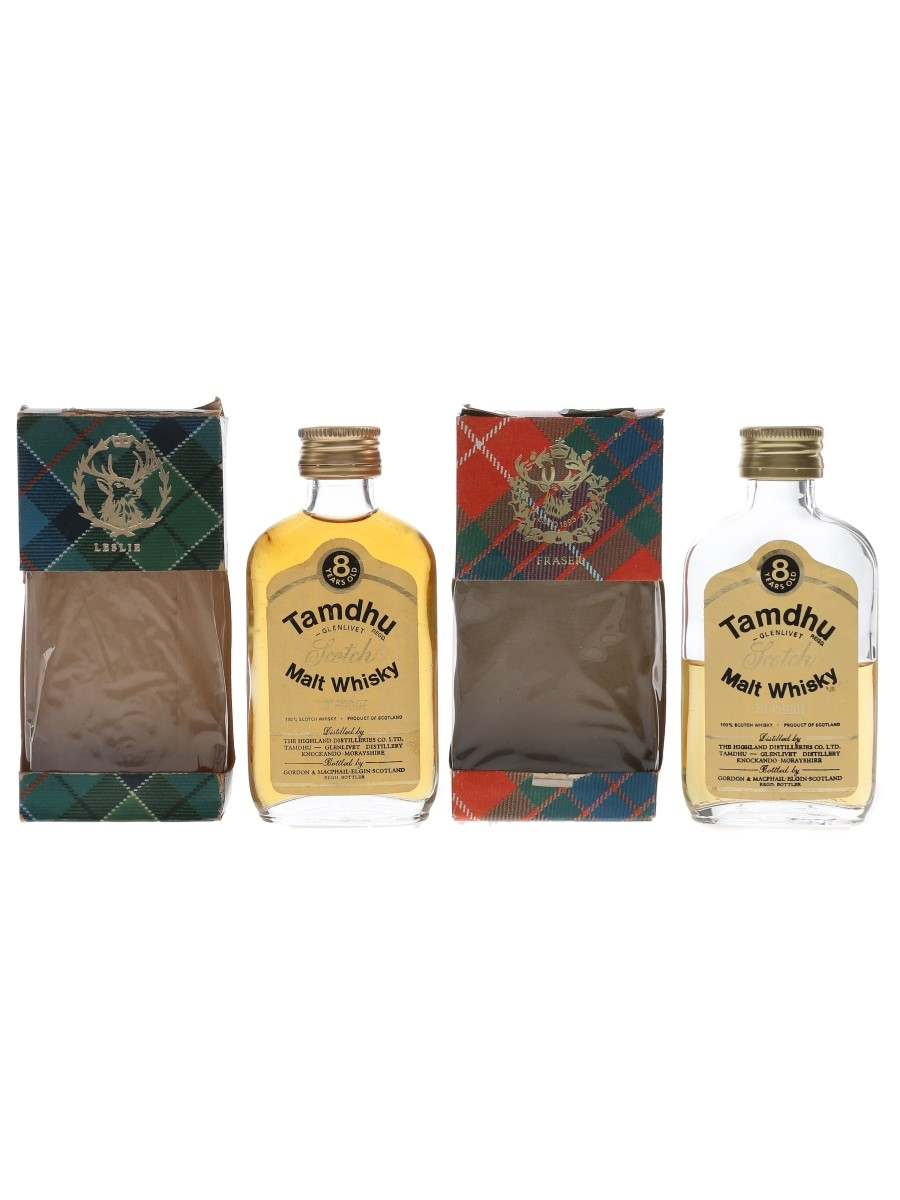 Tamdhu 8 Year Old Bottled 1970s - Gordon & MacPhail 2 x 5cl / 40%