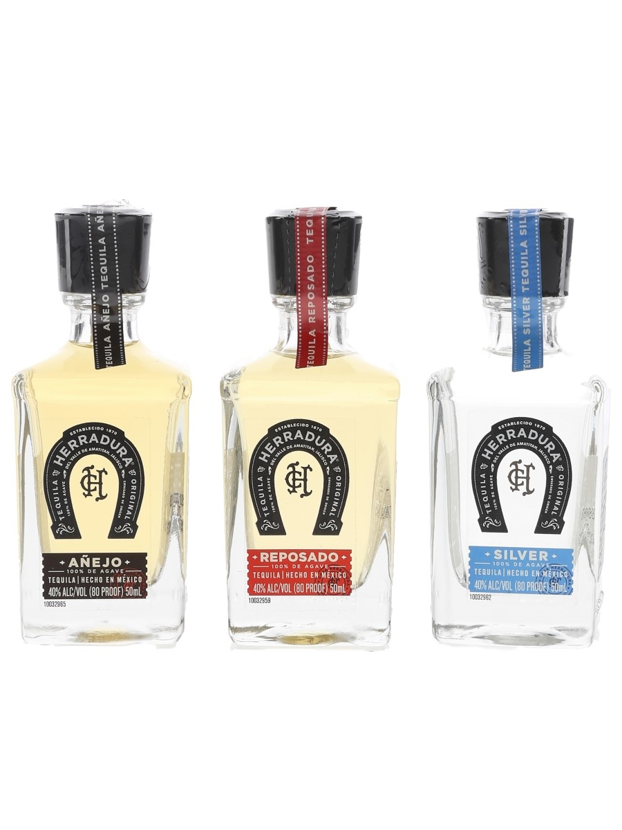 Herradura Tequila Anejo, Reposado & Silver 3 x 5cl / 40%