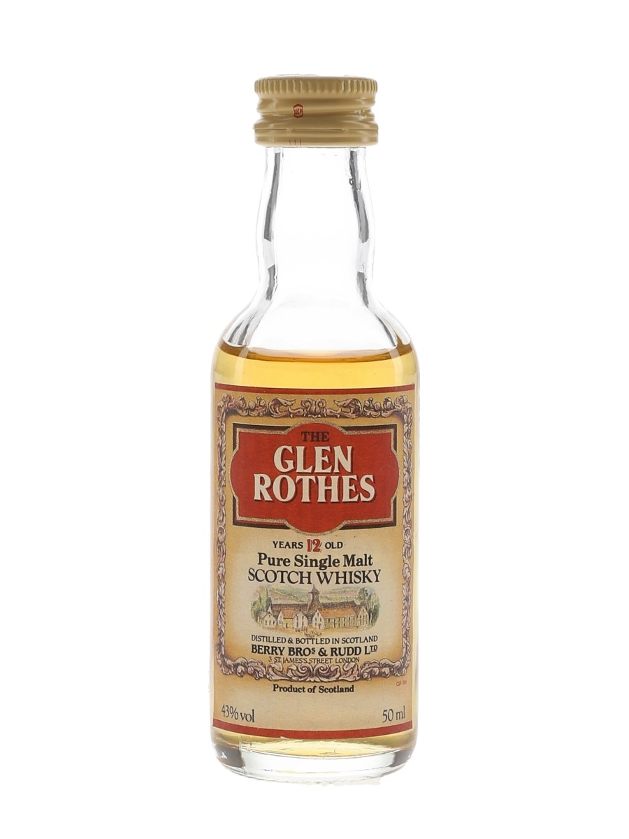 Glenrothes 12 Year Old Bottled 1980s - Berry Bros & Rudd 5cl / 43%