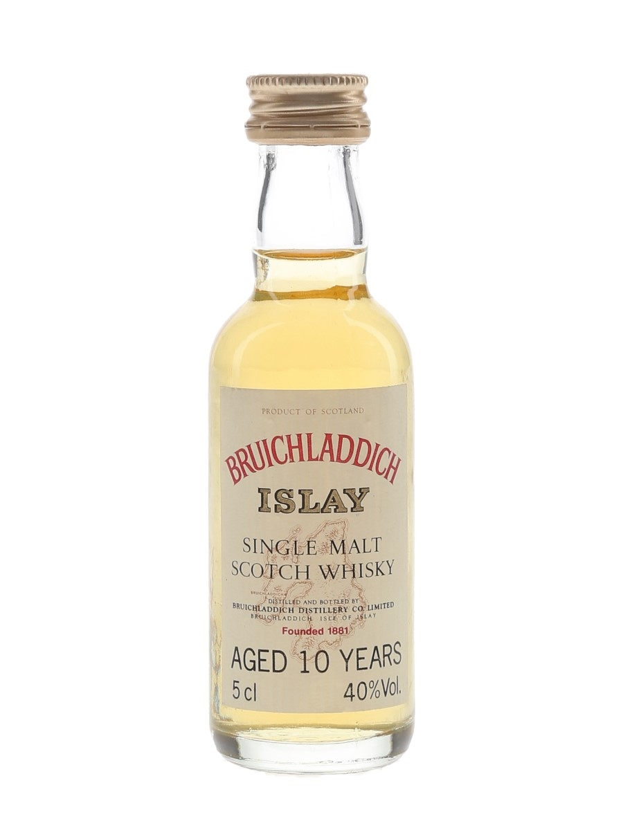 Bruichladdich 10 Year Old Bottled 1980s 5cl / 40%