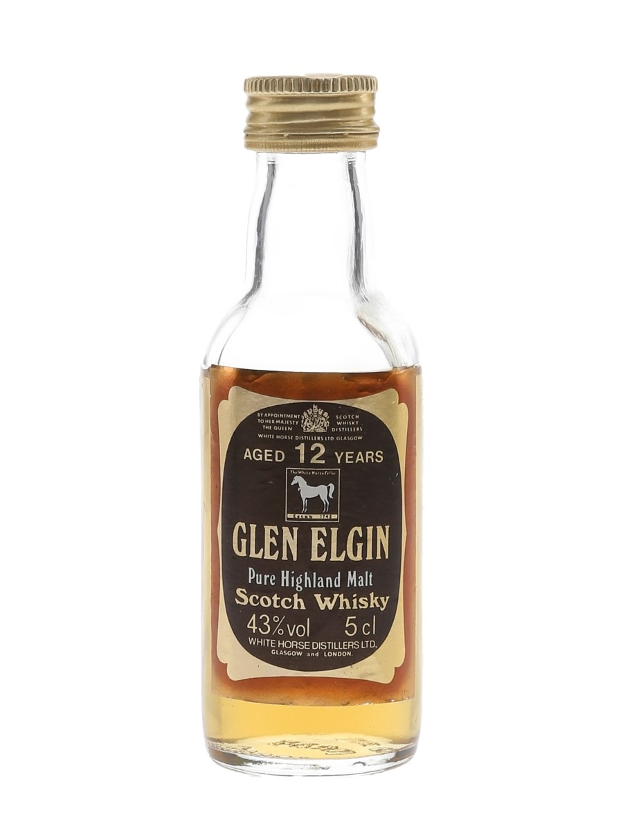 Glen Elgin 12 Year Old Bottled 1980s 5cl / 43%