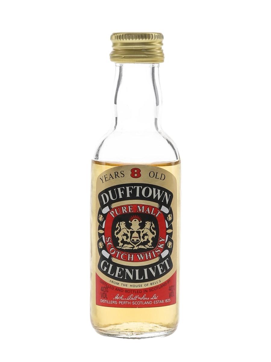 Dufftown Glenlivet 8 Year Old Bottled 1980s 5cl / 40%