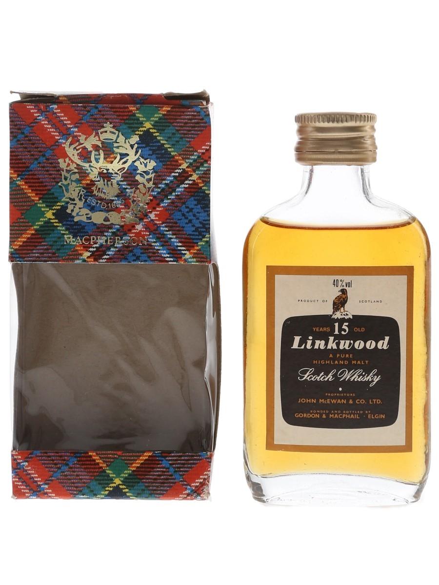Linkwood 15 Year Old Bottled 1980s - Gordon & MacPhail 5cl / 40%