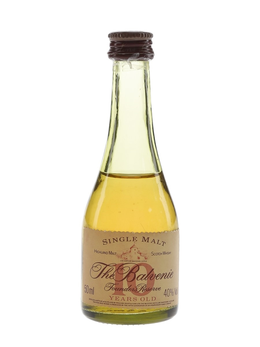 Balvenie 10 Year Old Founder's Reserve Bottled 1980s 5cl / 40%