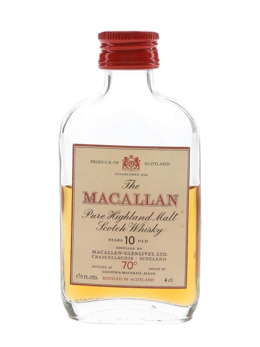Macallan 10 Year Old Bottled 1970s-1980s - Gordon & MacPhail 4cl / 40%