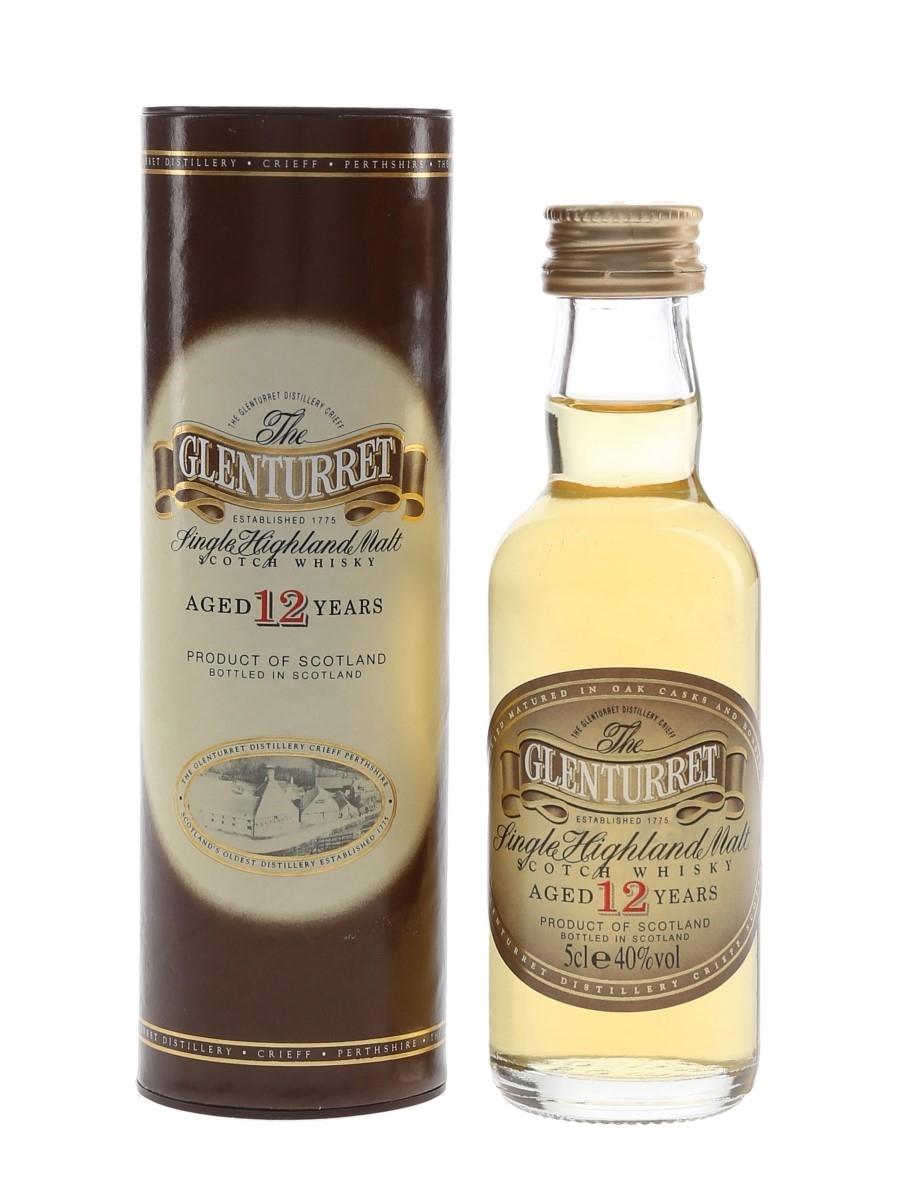 Glenturret 12 Year Old Bottled 1990s 5cl / 40%