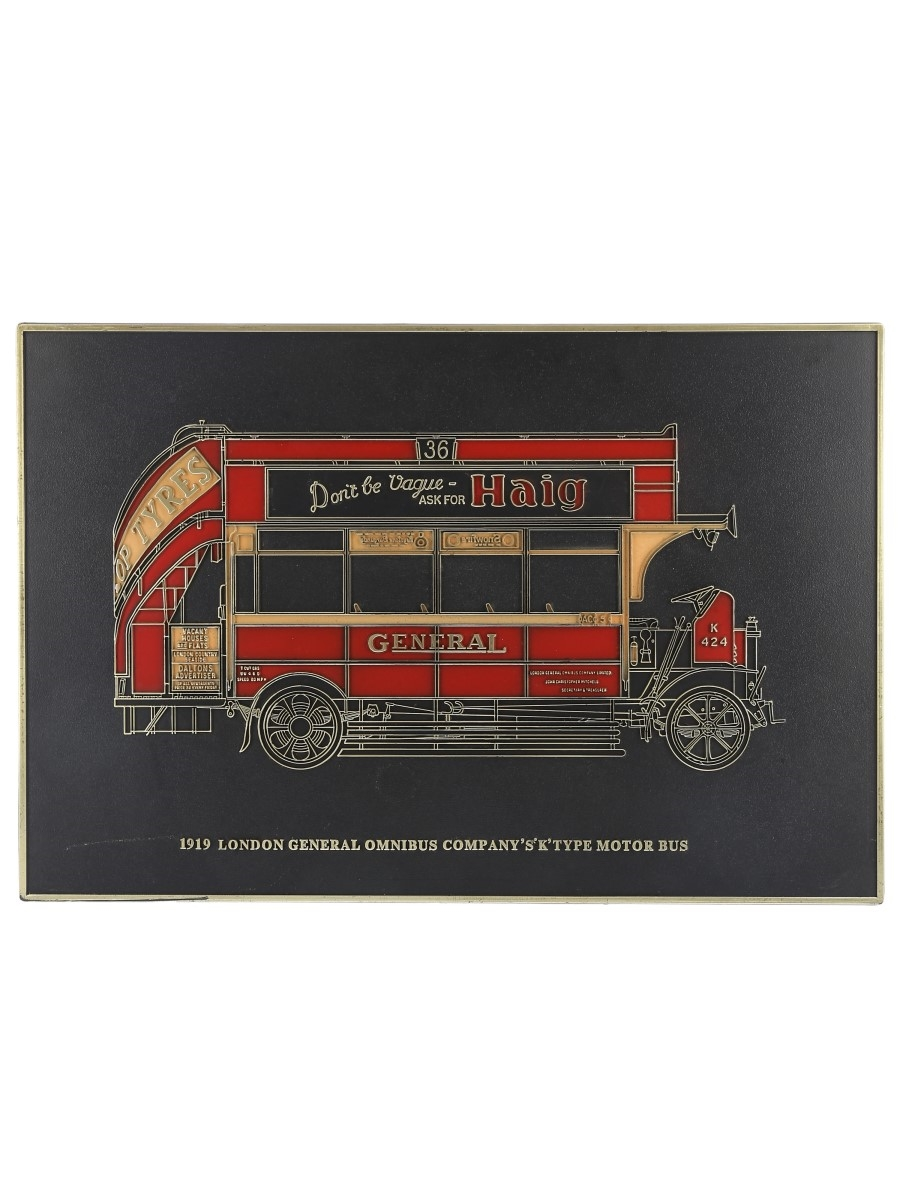 Haig 1919 London General Omnibus Sign  20cm x 30cm