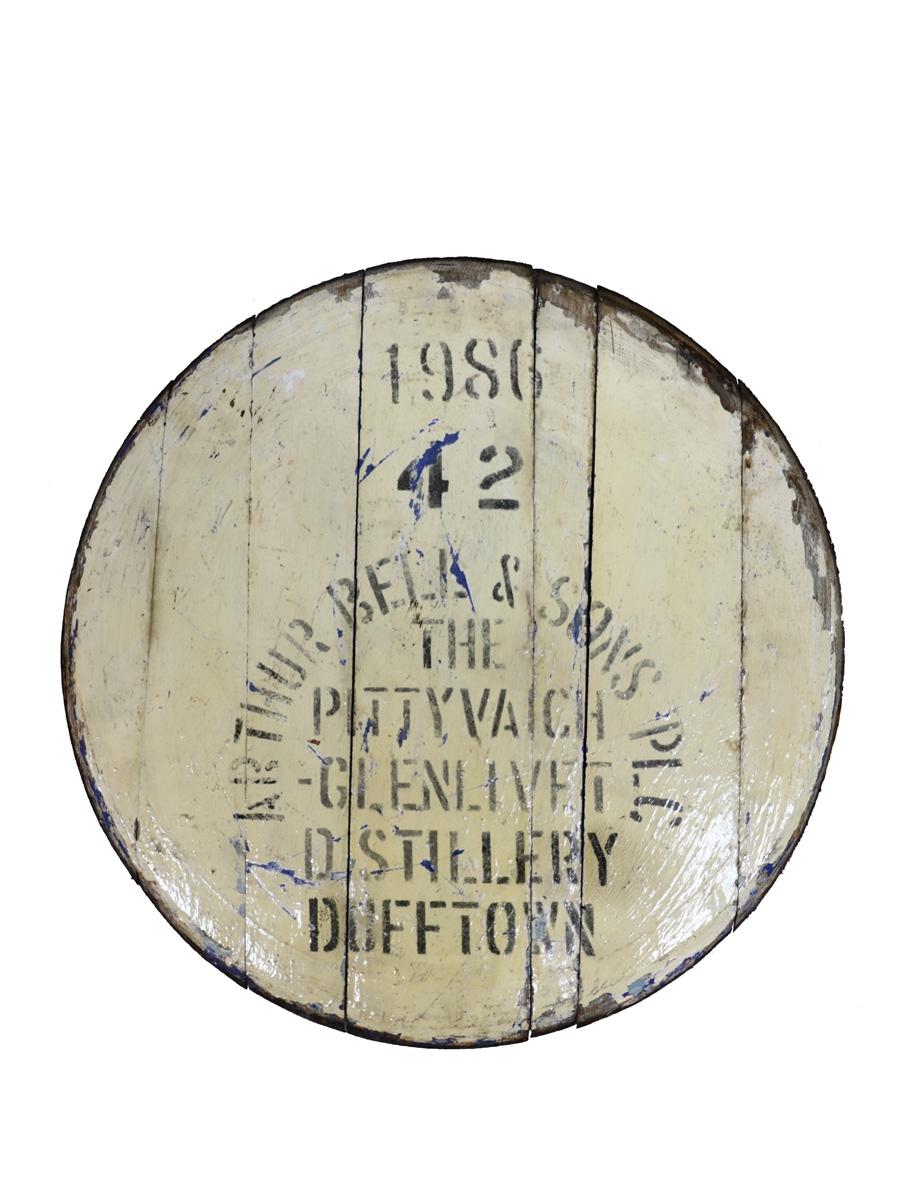 Pittyvaich 1986 Cask End  58cm Diameter