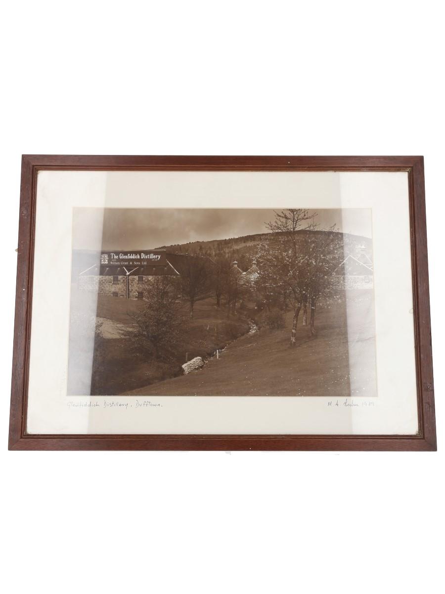 Glenfiddich Distillery Framed Photograph Martin Leckie, 1989 36cm x 50cm