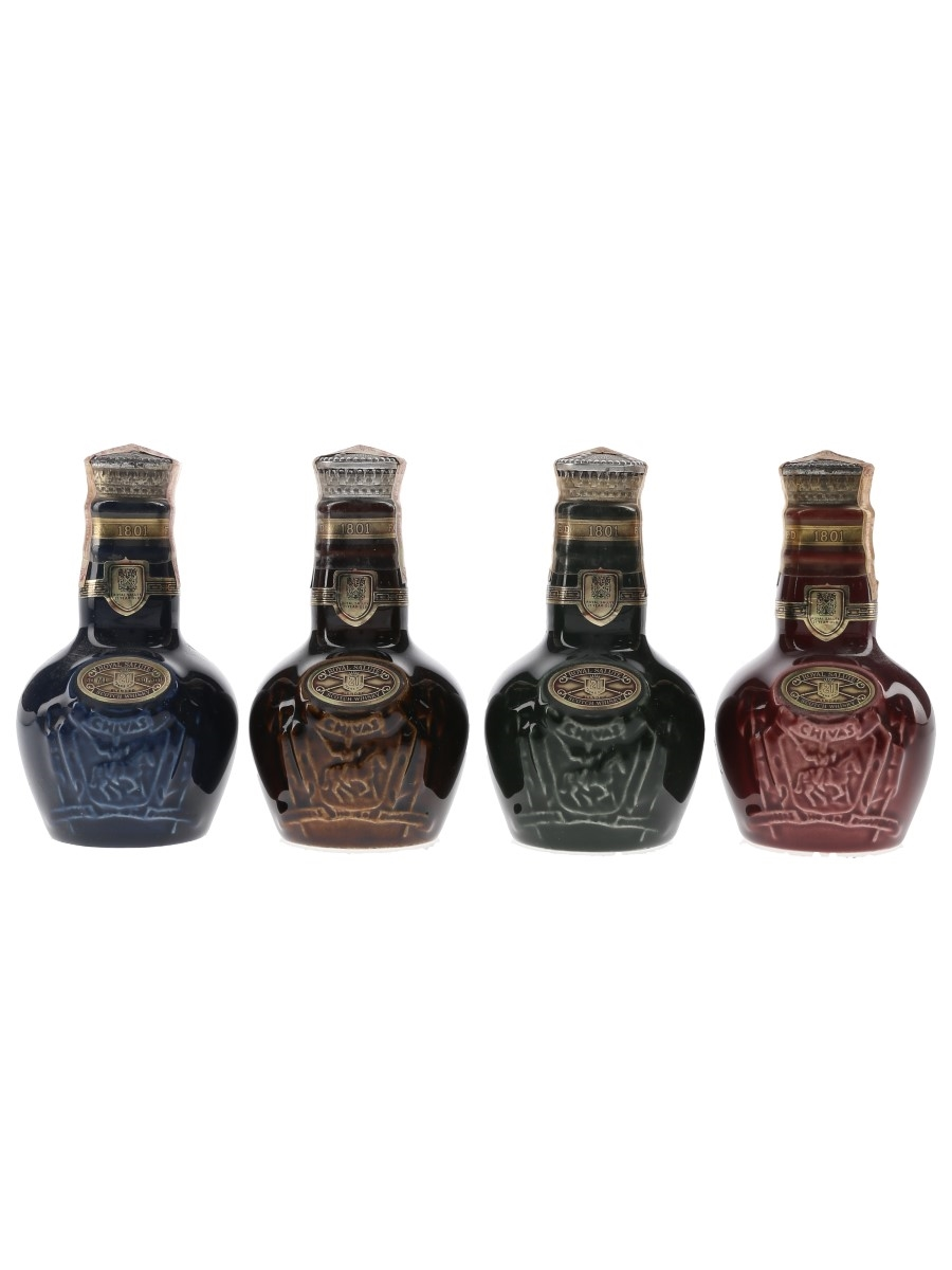 Royal Salute 21 Year Old Wade Ceramic Decanters 4 x 5cl / 40%
