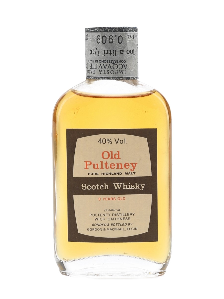 Old Pulteney 8 Year Old Bottled 1980s - Gordon & MacPhail 5cl / 40%
