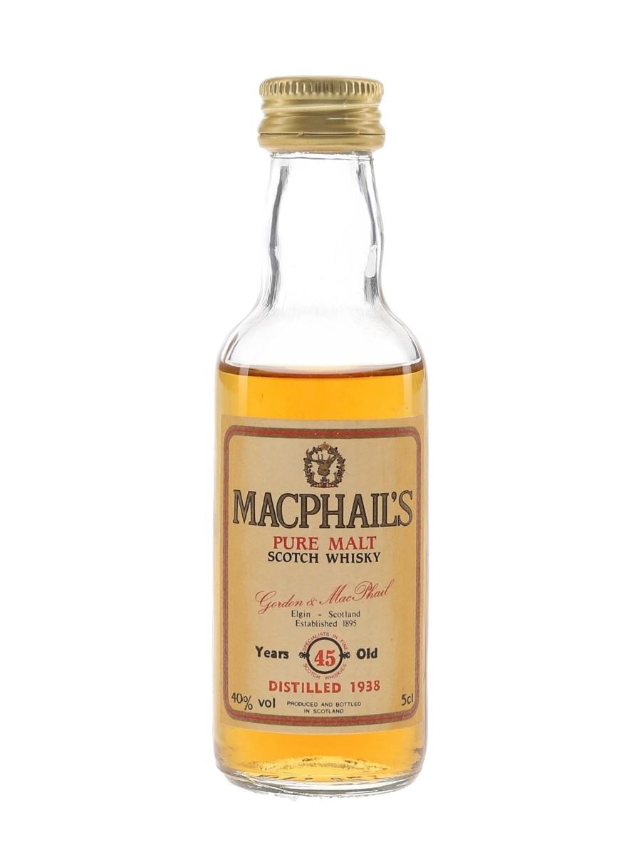 MacPhail's 1938 45 Year Old Gordon & MacPhail 5cl / 40%