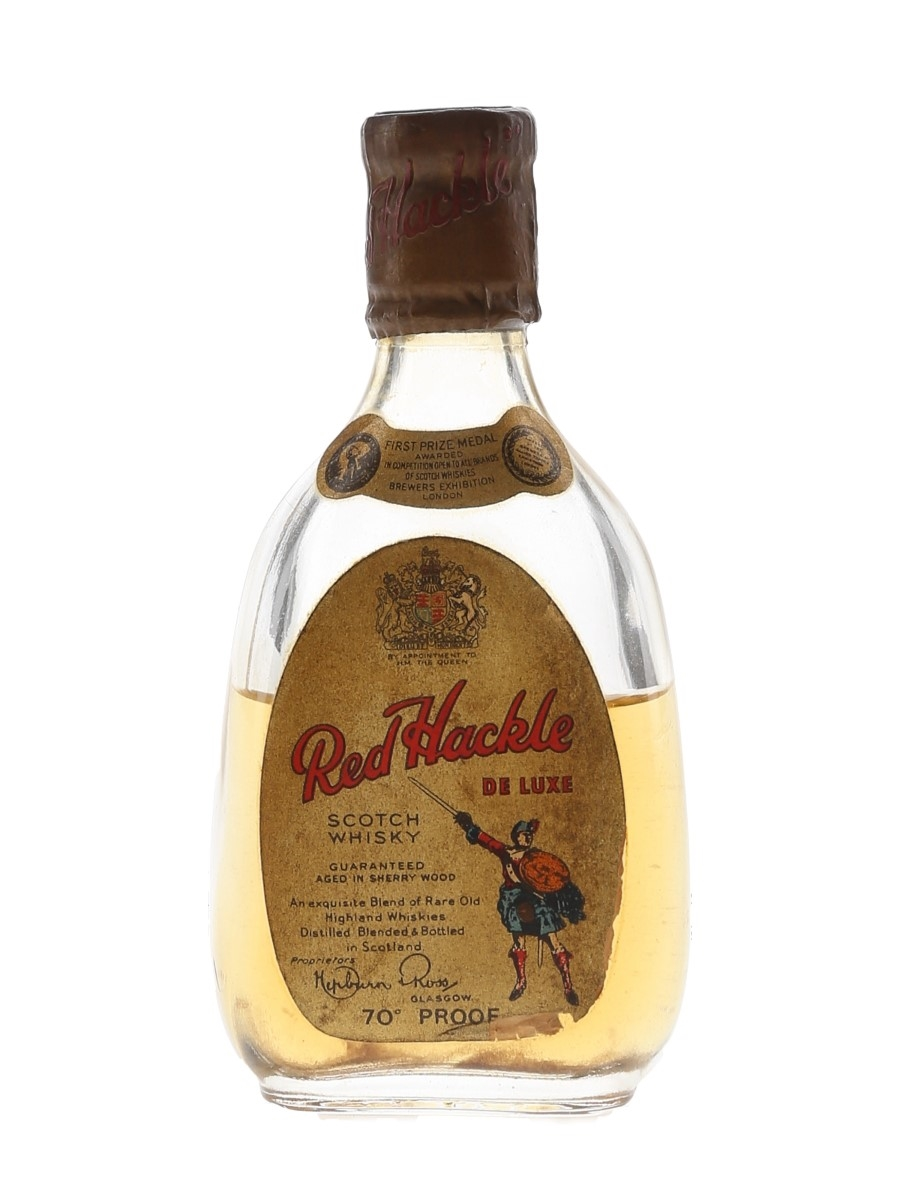 Red Hackle De Luxe Bottled 1950s-1960s 5cl / 40%