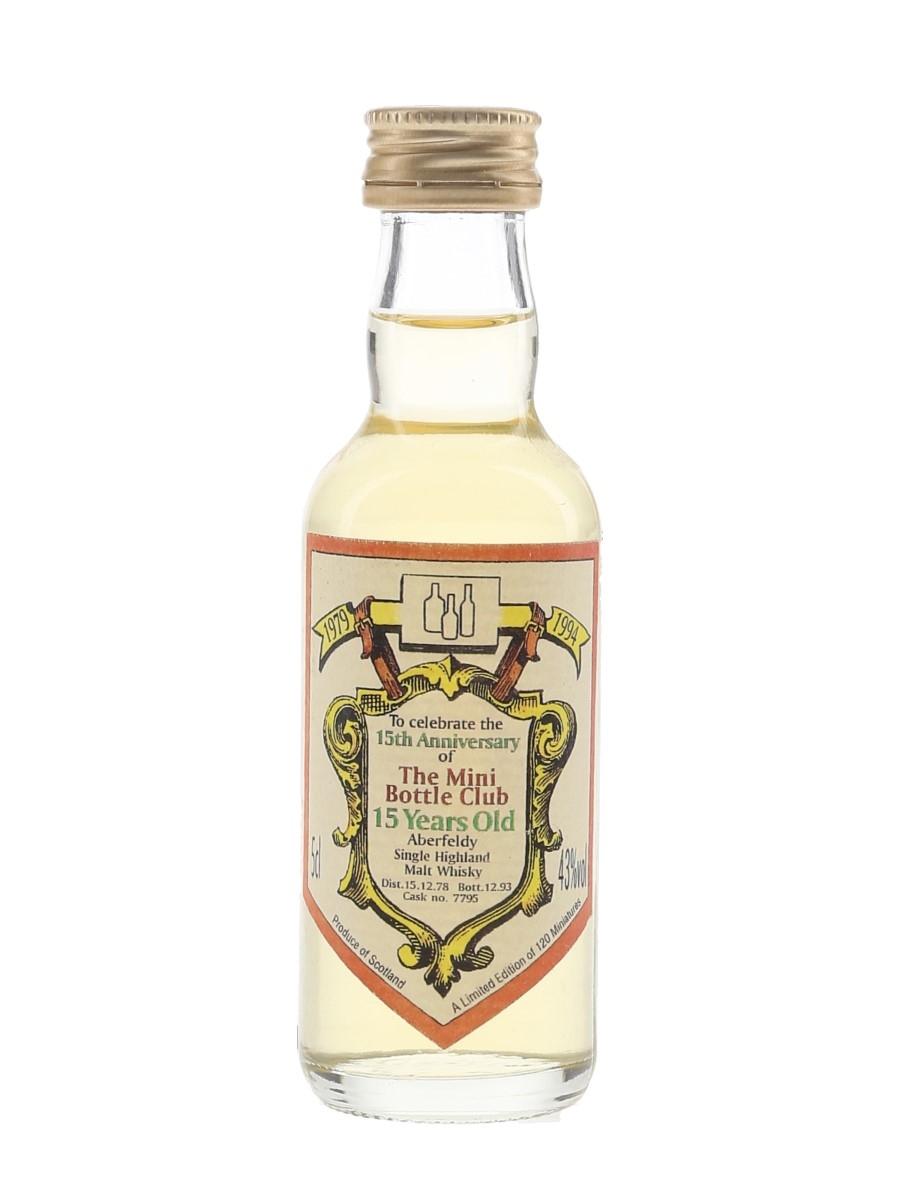 Aberfeldy 1978 15 Year Old Cask 7795 Bottled 1993 - Mini Bottle Club 15th Anniversary 5cl / 43%