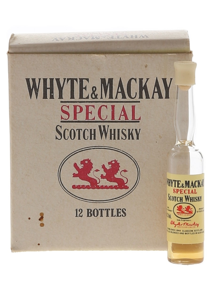 Whyte & Mackay Special Case The World's Smallest Bottles Of Whisky 12 x <1cl / 40%