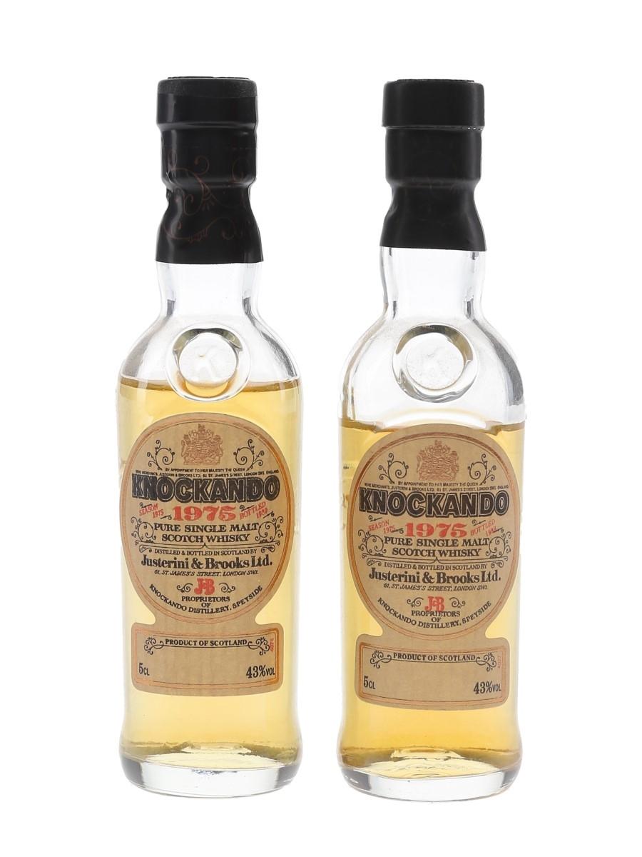 Knockando 1975 Bottled 1988 & 1989 2 x 5cl / 43%