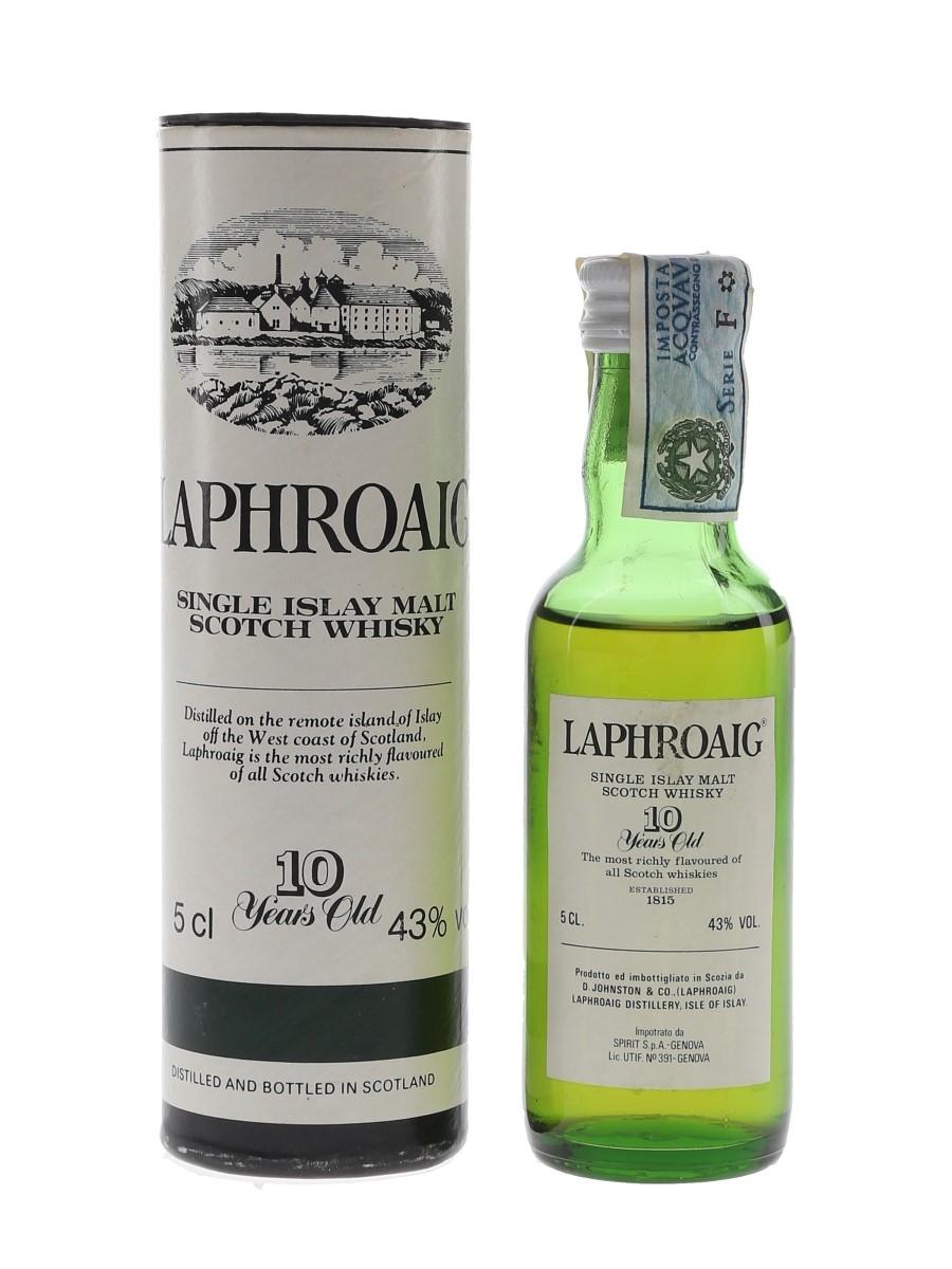 Laphroaig 10 Year Old Bottled 1980s 5cl / 43%