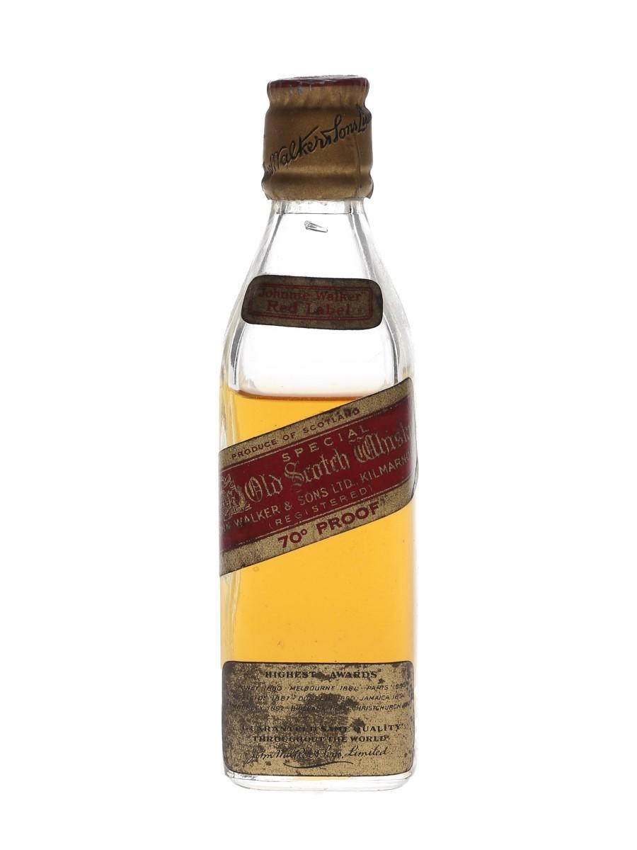Johnnie Walker Red Label Bottled 1950s 5cl / 40%