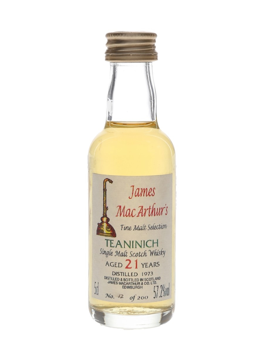 Teaninich 1973 21 Year Old James MacArthur's 5cl / 57.2%