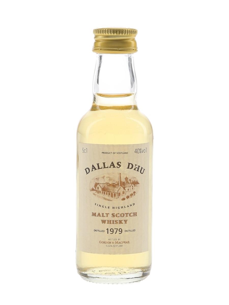 Dallas Dhu 1979 Bottled 1990s - Gordon & MacPhail 5cl / 40%