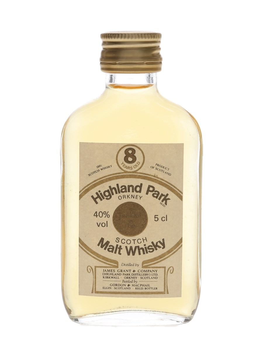 Highland Park 8 Year Old Bottled 1980s - Gordon & MacPhail 5cl / 40%