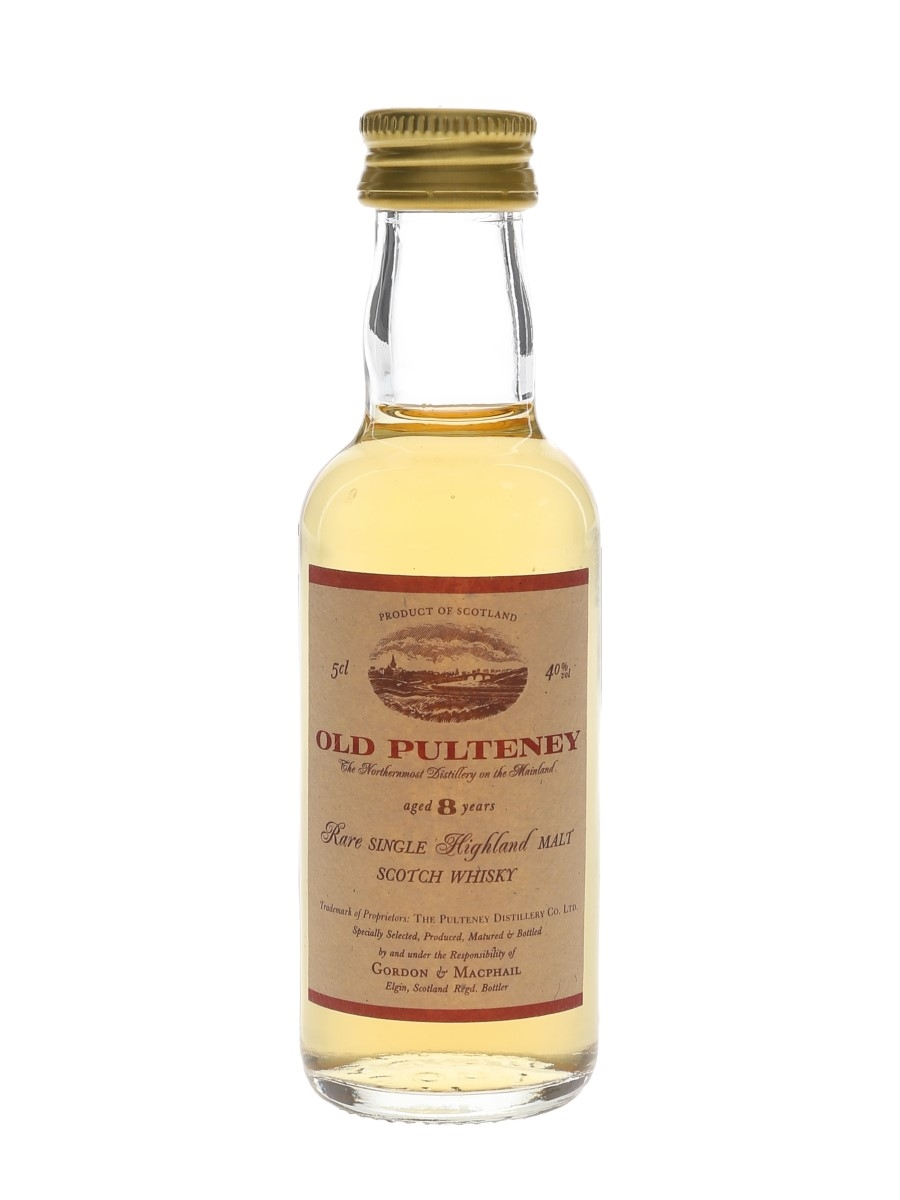 Old Pulteney 8 Year Old Bottled 1990s - Gordon & MacPhail 5cl / 40%