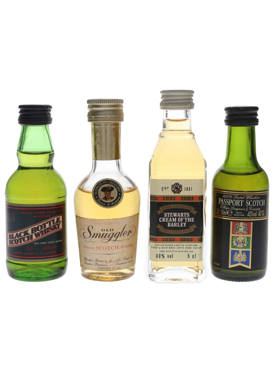 Assorted Blended Scotch Whisky Bottled 1980s 4 x 4.7cl-5cl