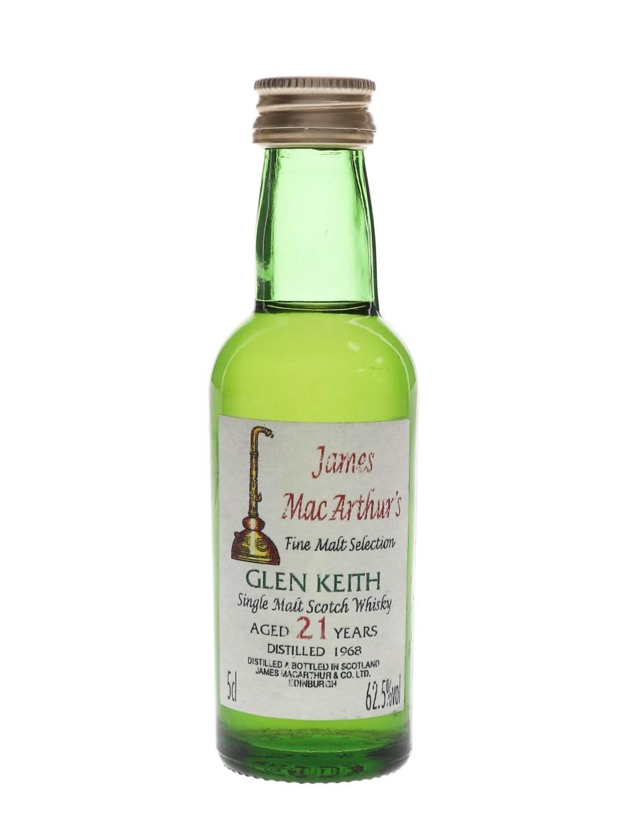 Glen Keith 1968 21 Year Old James MacArthur 5cl / 62.5%