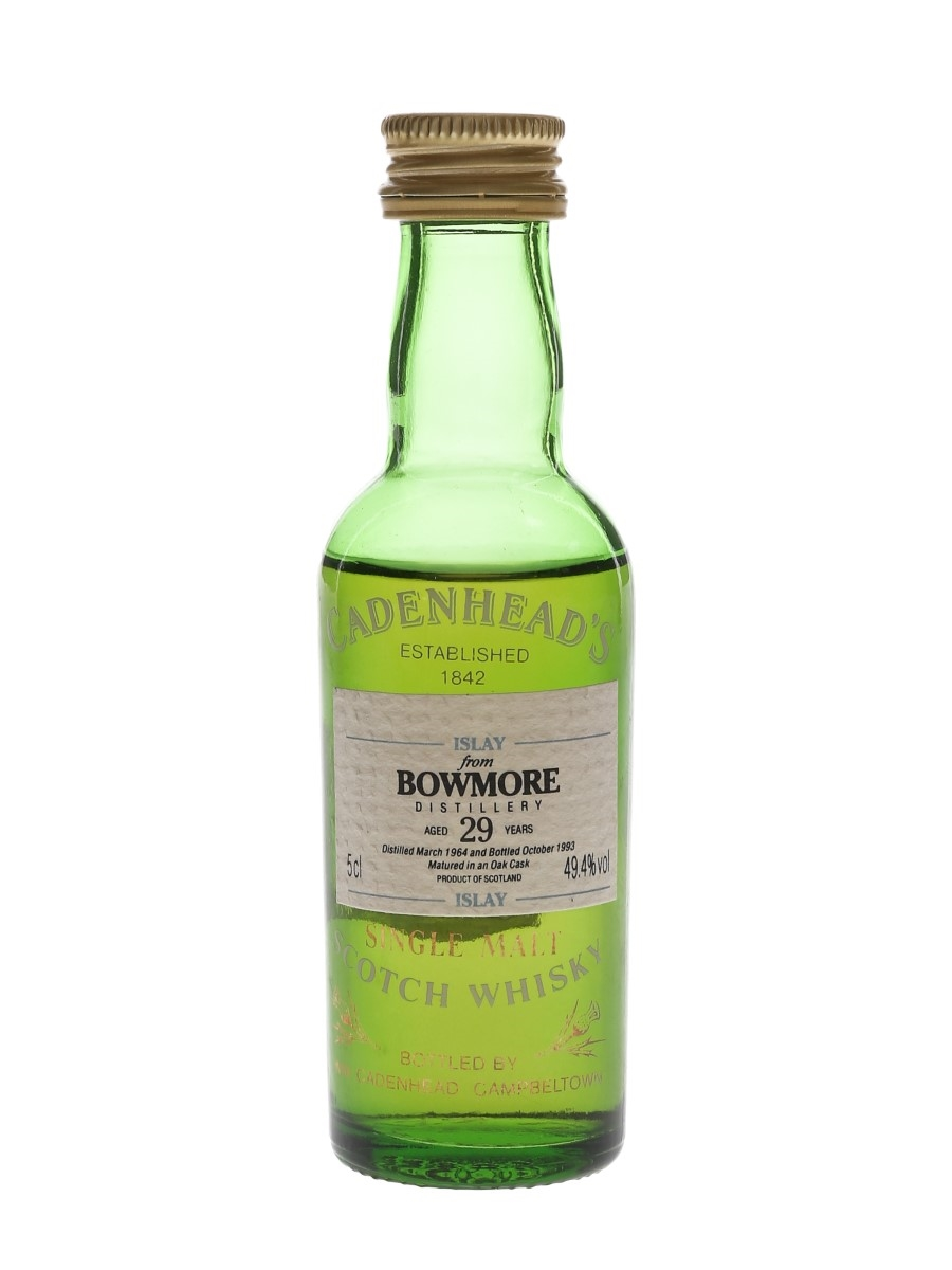 Bowmore 1964 29 Year Old Bottled 1993 - Cadenhead's 5cl / 49.4%