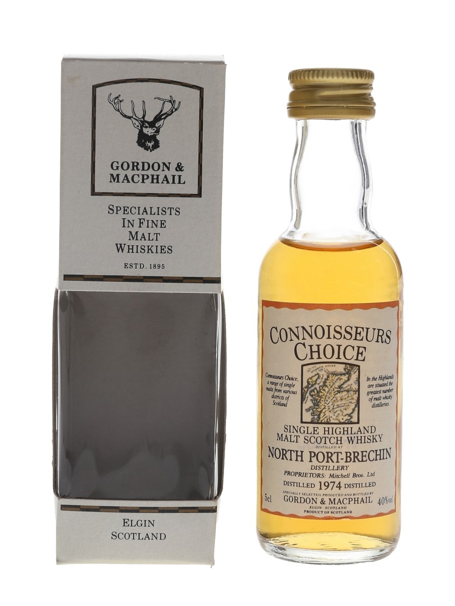 North Port Brechin 1974 Connoisseurs Choice Bottled 1990s - Gordon & MacPhail 5cl / 40%