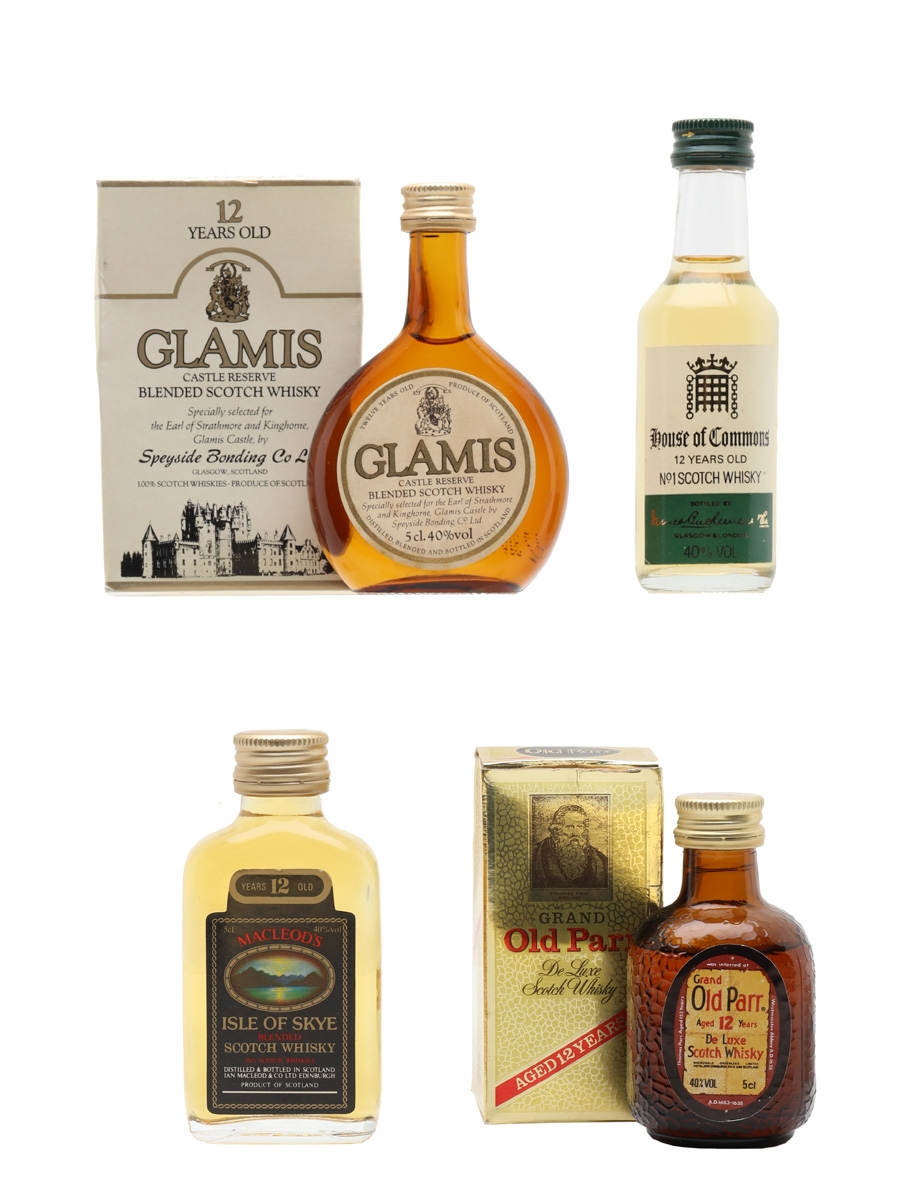 Assorted 12 Year Old Blended Scotch  4 x 5cl