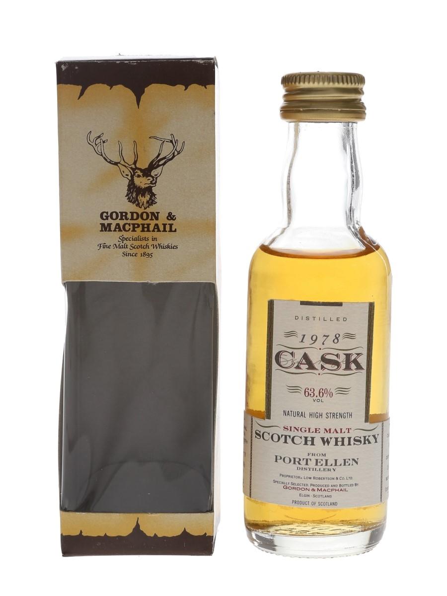 Port Ellen 1978 Cask Strength Bottled 1992 - Gordon & MacPhail 5cl / 63.6%