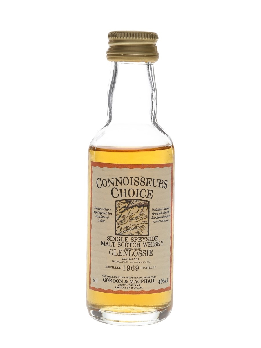 Glenlossie 1969 Connoisseurs Choice Bottled 1980s-1990s - Gordon & MacPhail 5cl / 40%