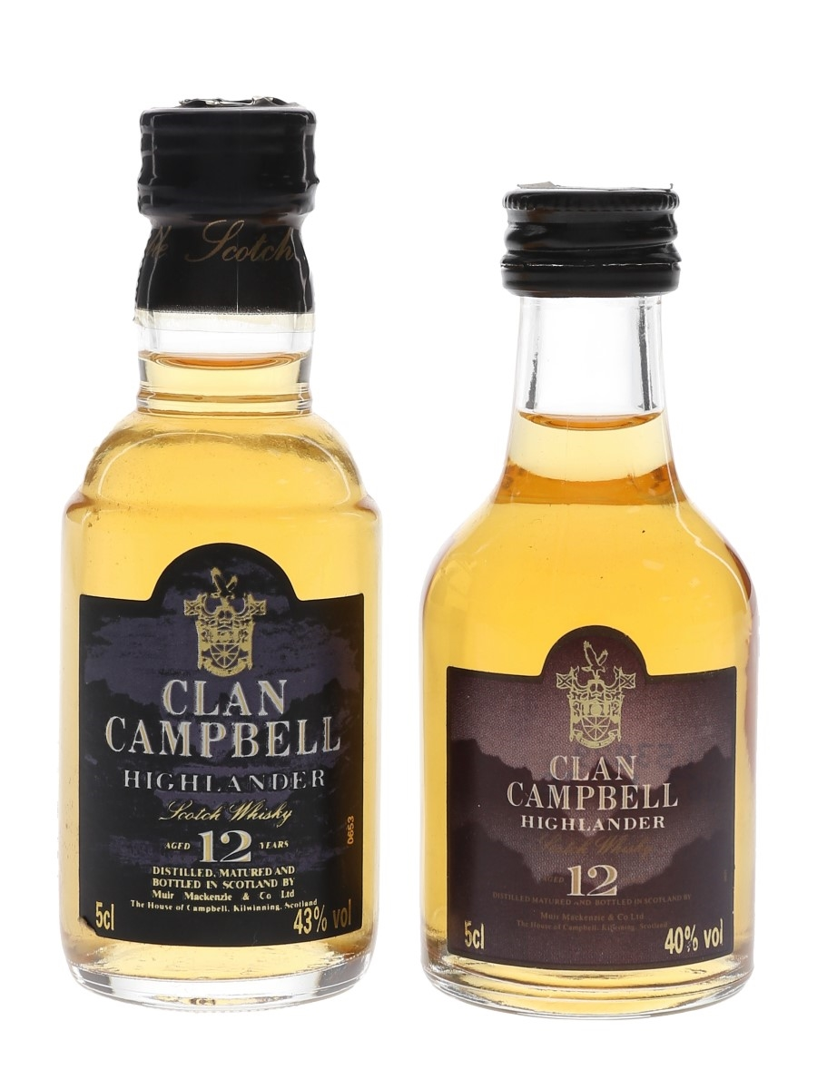 Clan Campbell 12 Year Old  2 x 5cl