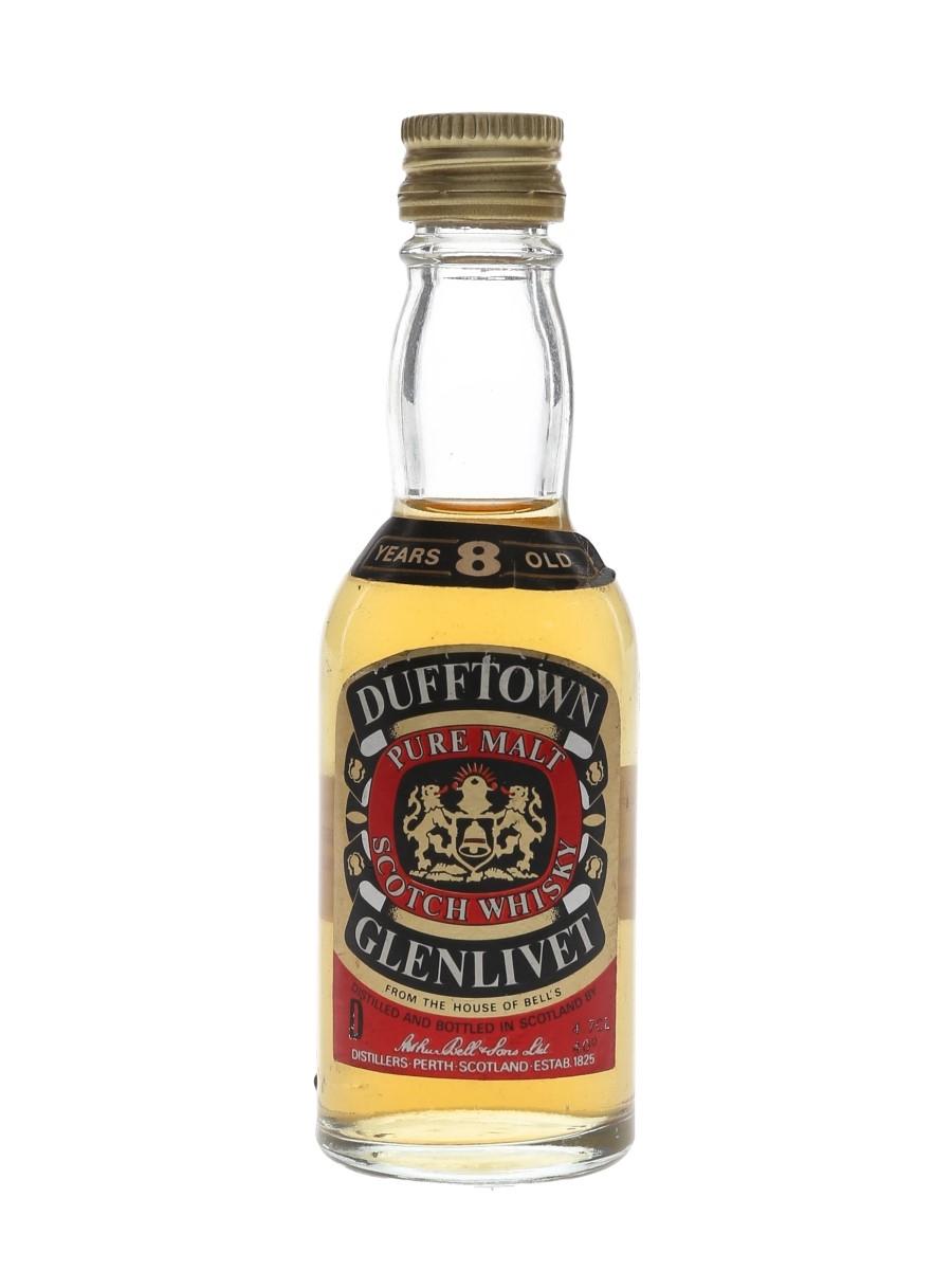Dufftown Glenlivet 8 Year Old Bottled 1970s 4.7cl / 40%