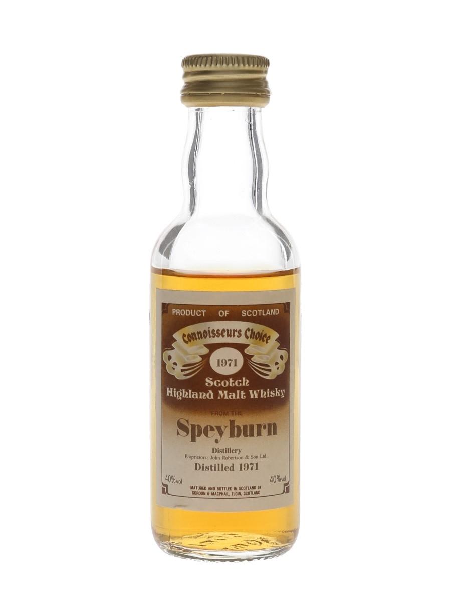 Speyburn 1971 Connoisseurs Choice Bottled 1980s - Gordon & MacPhail 5cl / 40%
