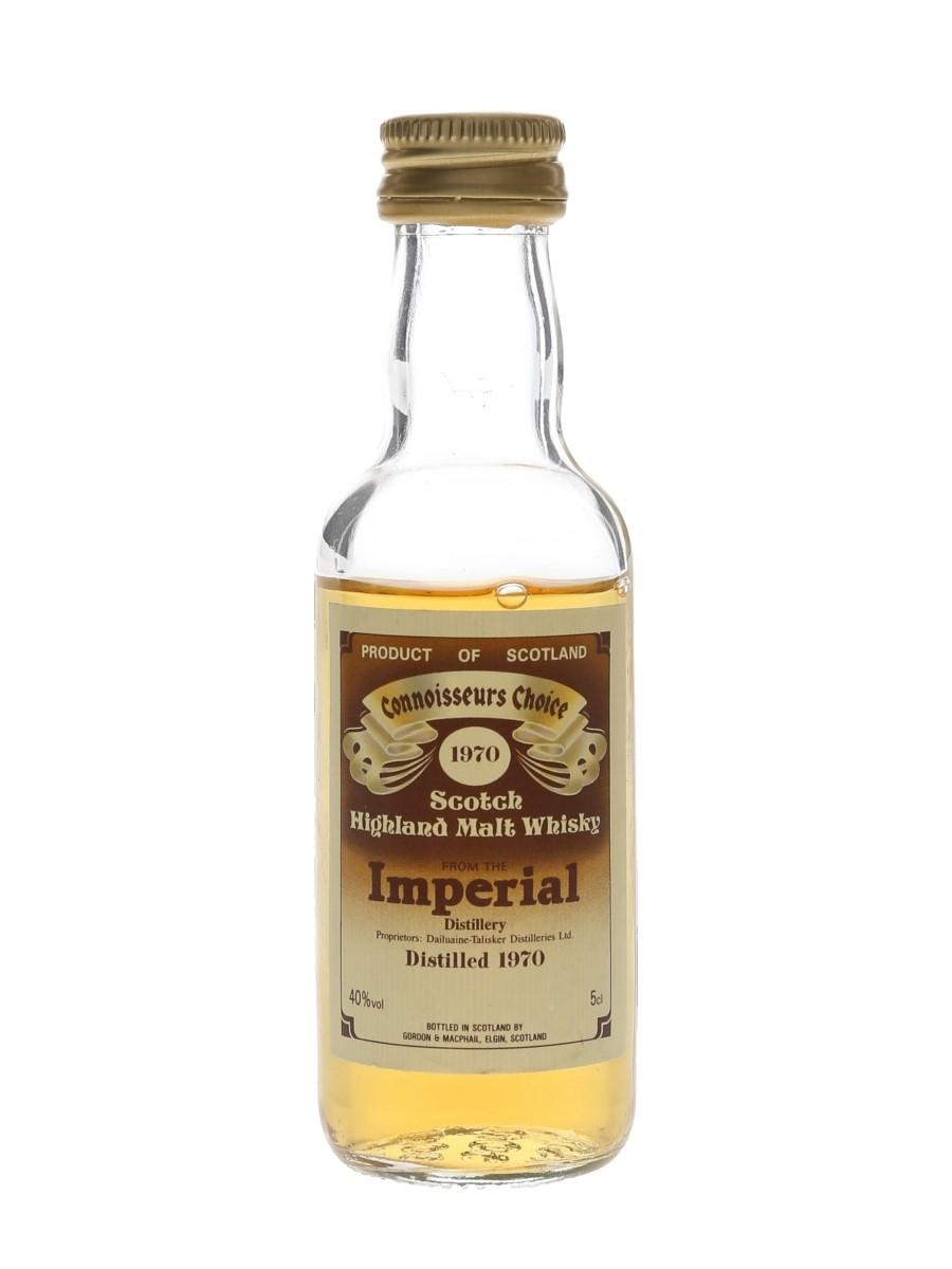 Imperial 1970 Connoisseurs Choice Bottled 1980s - Gordon & MacPhail 5cl / 40%
