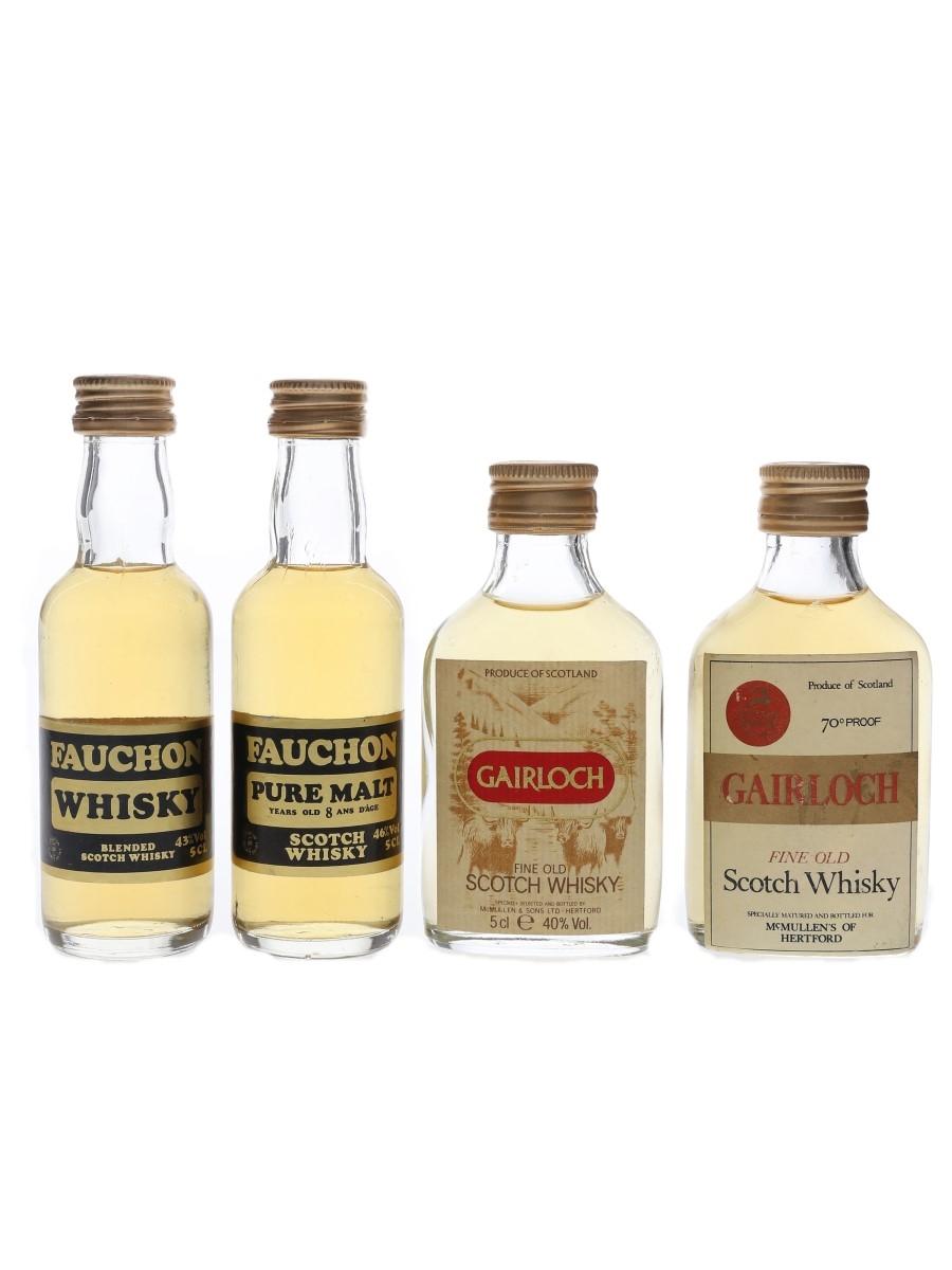 Fauchon & Gairloch Bottled 1970s & 1980s-1990s 4 x 5cl